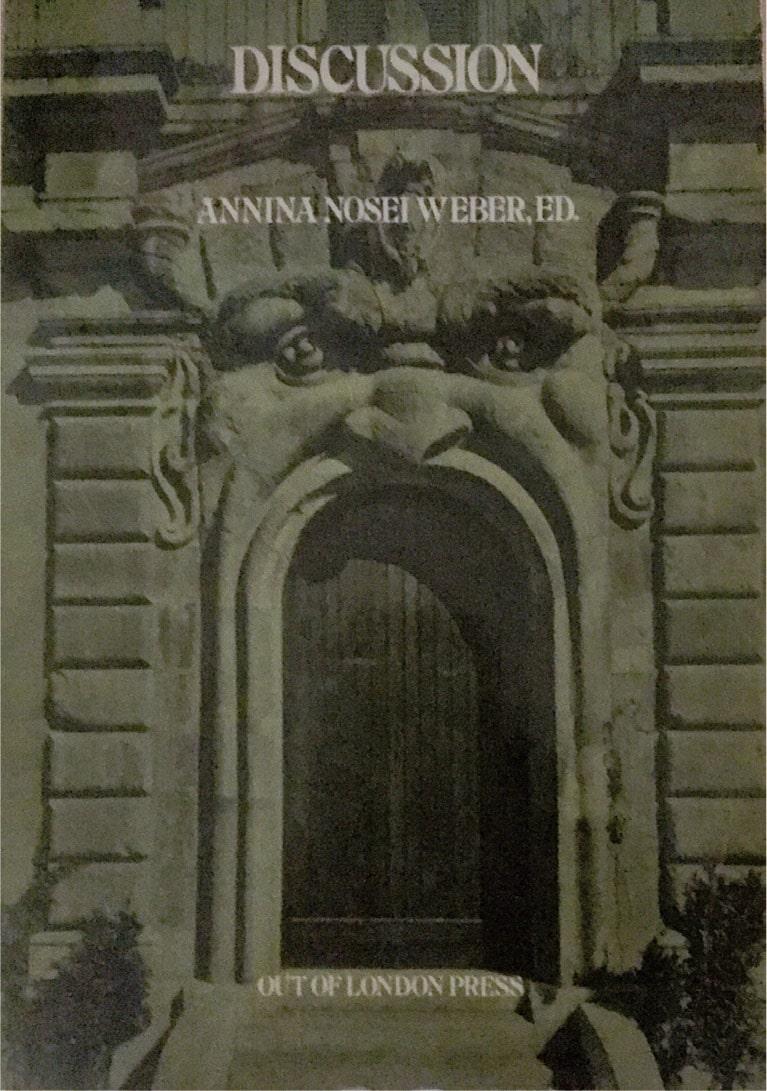 copertina del libro Discussion, edito da Out of London Press