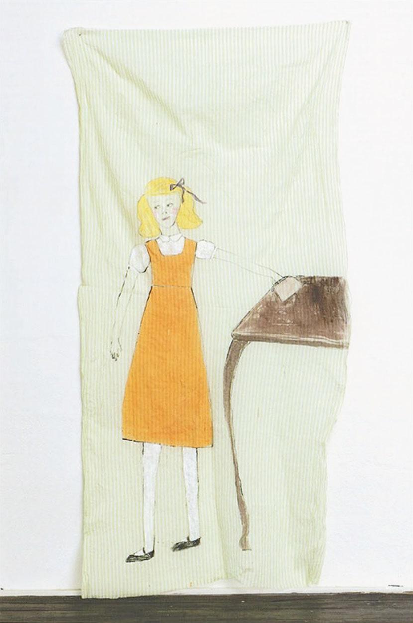 Jenny Watson, Purse, 2003, cm 225 x 107 (pubblicato nel catalogo 1998-2003, Annina Nosei Gallery, New York, 2003)
