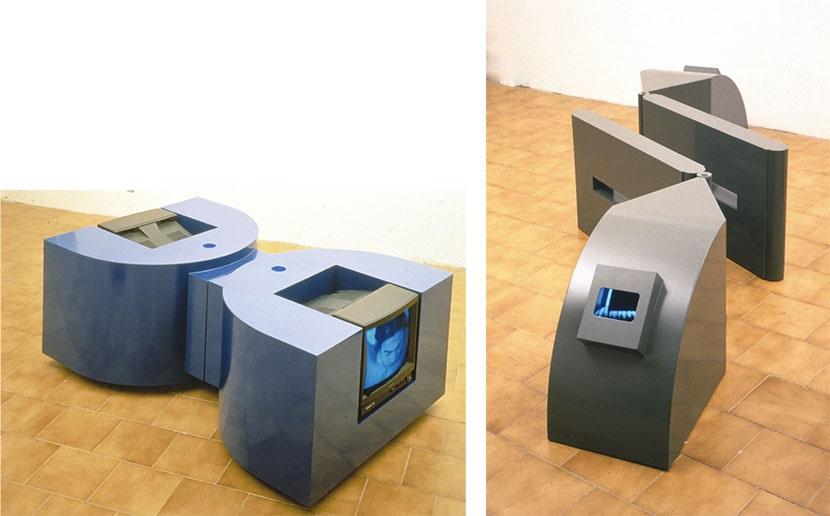 da sinistra: Maurizio Camerani, Corpi gemelli, 1995. Courtesy l'artista; Maurizio Camerani, Mutamenti, 1995. Courtesy l'artista