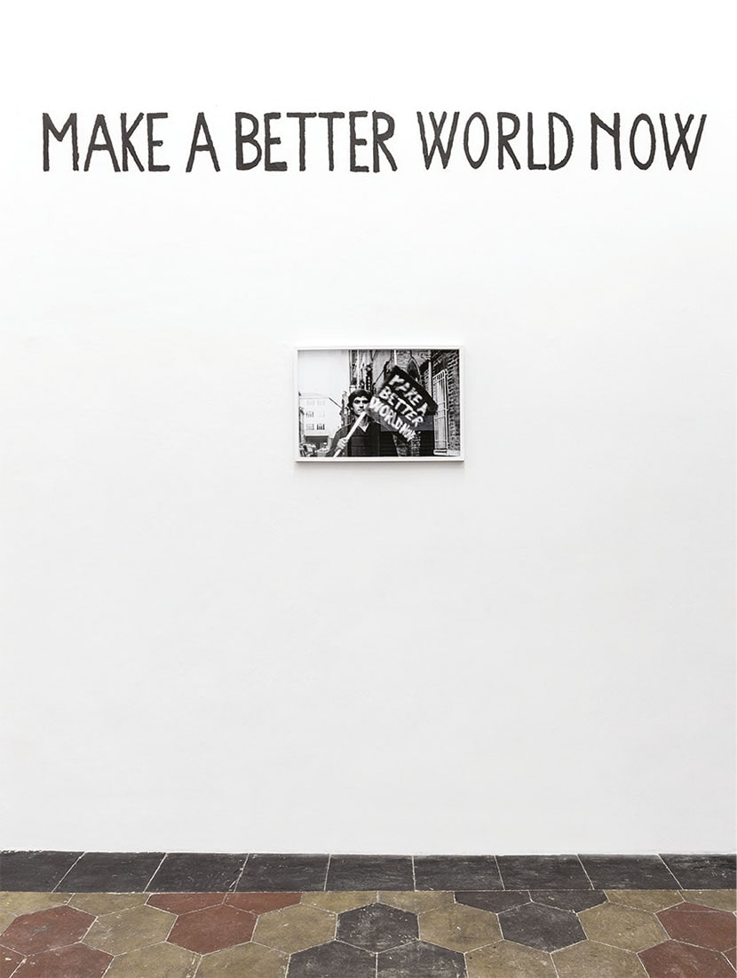 Maurizio Camerani, Make a Better World Now, 2020, veduta della mostra. Foto Beppe Giardino. Courtesy l'artista e Quartz Studio, Torino