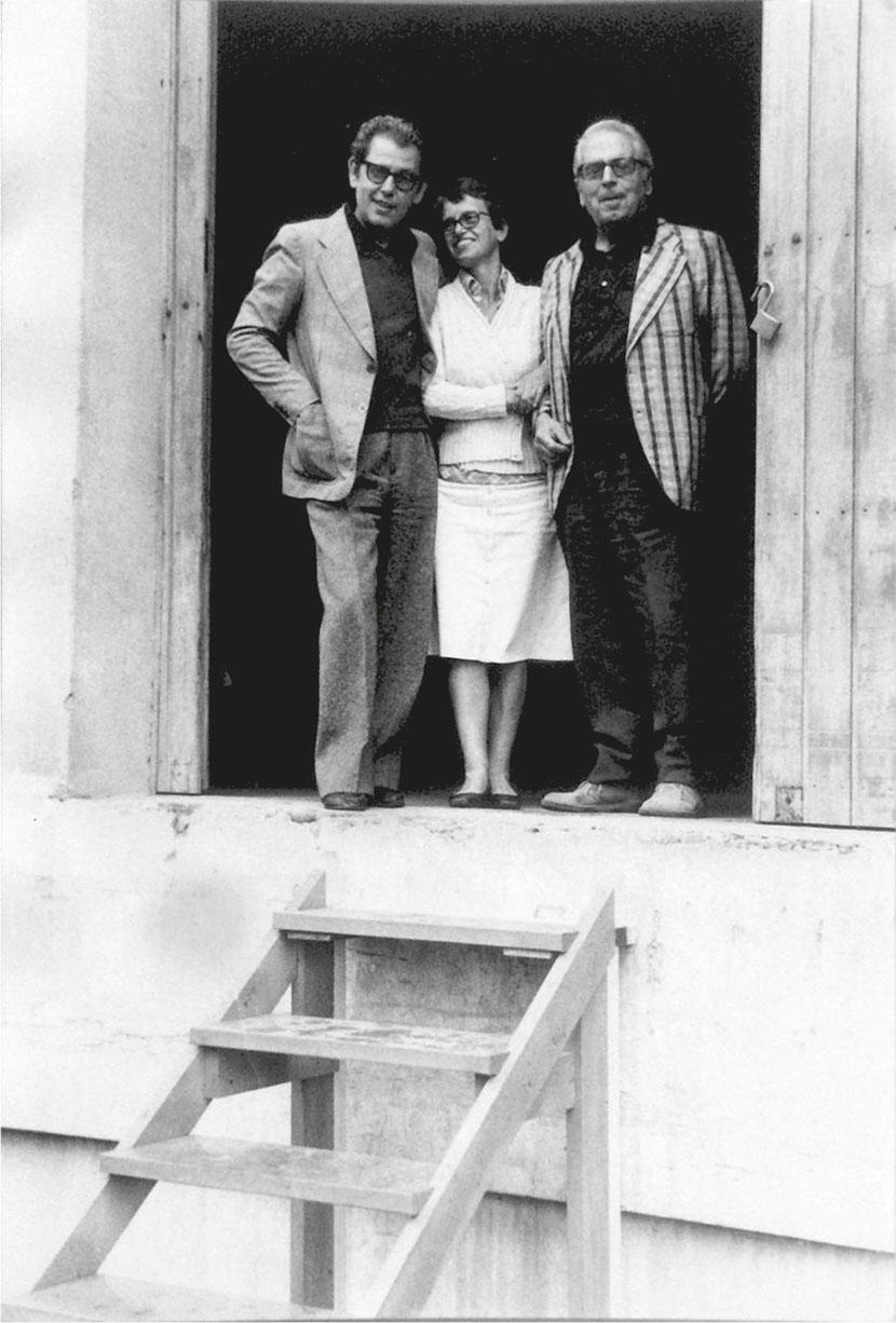 Vittorio Brandi Rubiu, Pinella Rubiu, Cesare Brandi, Ex Seccatoi del Tabacco, Città di Castello, primi anni '80