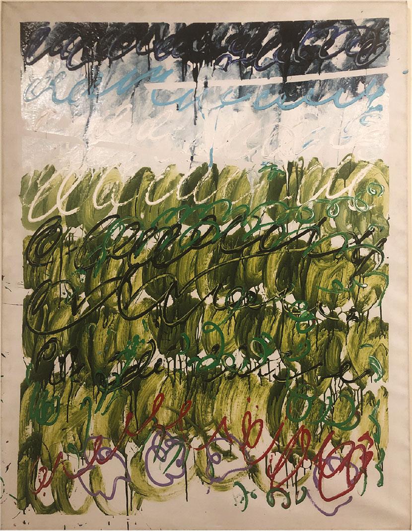 Mario Schifano, Untitled, 1982. Courtesy Annina Nosei Gallery, New York